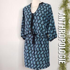 LEIFSDOTTIR Geometric Leaf Print Shirt Dress